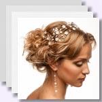 zu den Bildergalerien - Hochzeitsfrisuren und Brautfrisuren