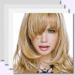 zur Bildergalerie - Frisuren mit schrägem Pony