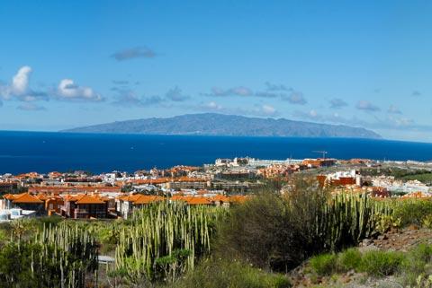 Urlaub auf den Kanaren - Urlaub auf den Kanarischen Inseln - Von Teneriffa sieht man die Insel Gomera