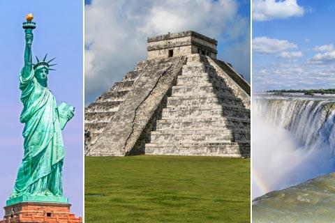 Reiseländer und Reiseziele in Nordamerika