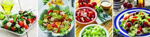 Leckere Salatrezepte für den Sommer
