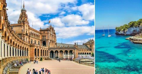 Reiseziele für Urlaub in Spanien