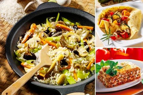 Leckere vegetarische Hauptgerichte