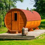 weiter zu - Die Fasssauna fürs Saunavergnügen im Garten