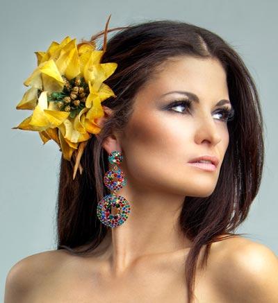 Blumen Haarschmuck Südseefeeling