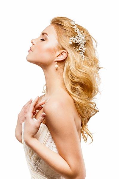 Haarschmuck für Braut und Hochzeit - Haarkamm mit Perlen