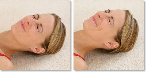 Entspannungsübungen gegen Falten nach Jacobson: Gesicht – Nase und Wangen