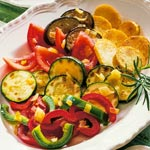 weiter zu - Gebackene Kartoffeln mit Gemüse