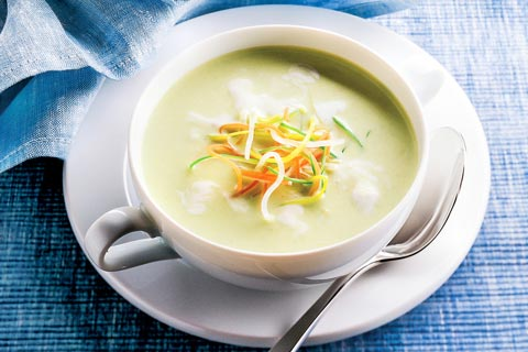 Kartoffel-Lauch-Suppe mit Soja