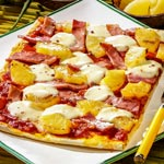 zum Pizza-Rezept - Pizza Hawaii