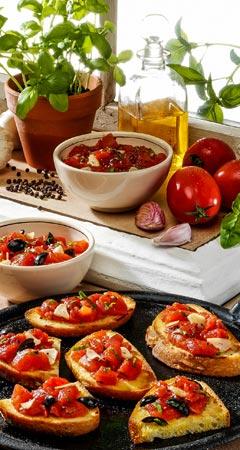 Zwei Rezepte für Tomaten-Bruschetta