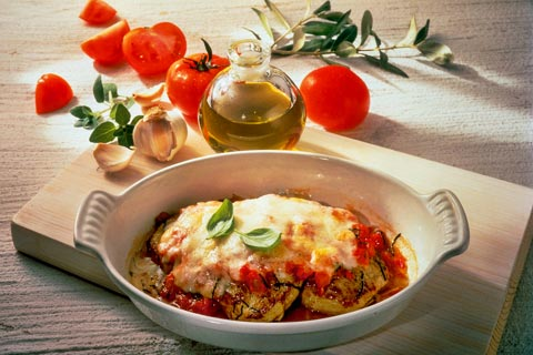 Mittagessen - Scaloppina alla Mozzarella