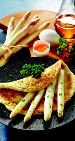 Spargel-Omelette mit Spargel