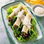 weiter zu - Cannelloni vegetarisch gefüllt mit Käsesauce