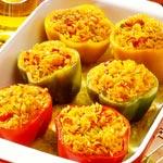 weiter zu - Gefüllte Paprika mit Reis