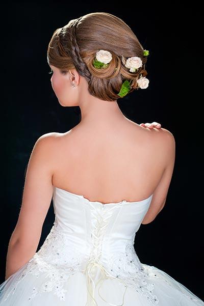 Haarschmuck für Braut und Hochzeit - Haarschmuck mit Rosen