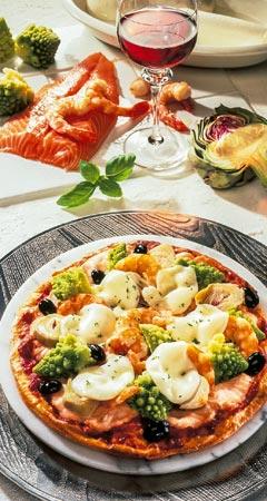 Pizza Rezept für Pizza mit Lachs - Lachspizza