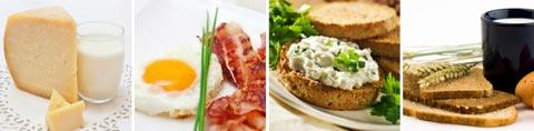 Lebensmittel mit Vitamin B2 / Tabelle