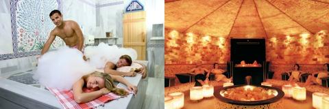 Tuerkische Seifenmassage und die Salzsteingrotte in der Rottal Therme