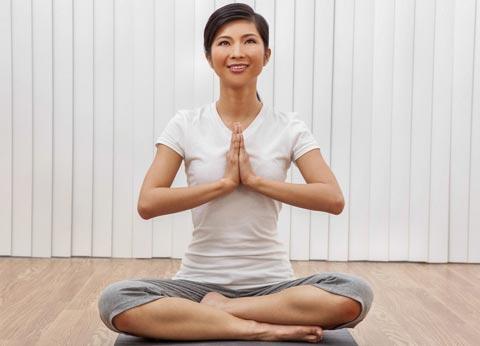 Meditation hilft Stress abbauen