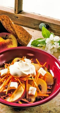 Apfel-Möhren-Salat - Rohkostsalat