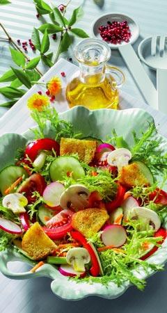 Knackiger leichter Sommersalat