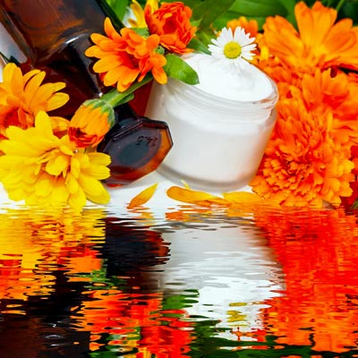 Ringelblumenöl und Salbe gegen Pickelmale