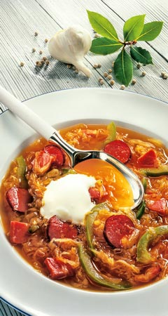 Sauerkrautsuppe mit Kassler