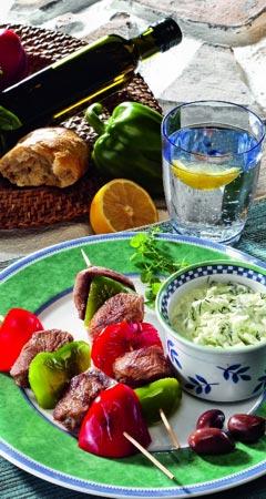 Souvlaki Rezept mit Tsatsiki