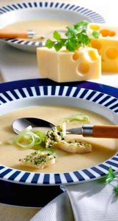 Käsesuppe mit Lauch / Porree Rezept