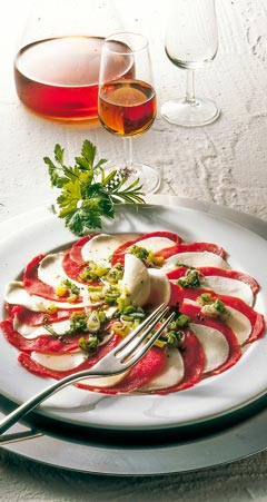 Abendessen - Mozzarella-Carpacccio