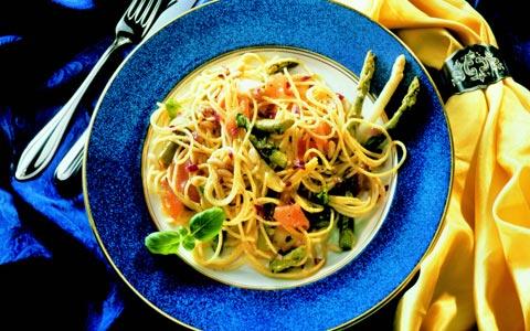 Spargel: Spaghetti mit Spargel