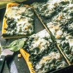 zum Pizza-Rezept - Vegetarische Spinat-Pizza