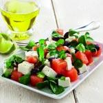weiter zu - Salat mit Wassermelone und Feta