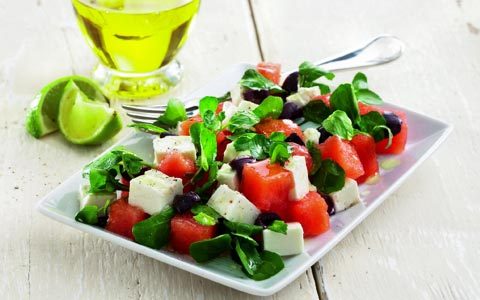 rezept salat mit wassermelone und feta. Black Bedroom Furniture Sets. Home Design Ideas