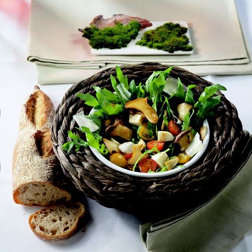 einfache kochrezepte pilze rucola salat. Black Bedroom Furniture Sets. Home Design Ideas