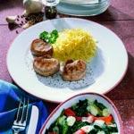 weiter zu - Blattspinat überbacken mit Mozzarella und Schweinefilet