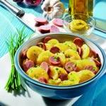 weiter zu - Kartoffelsalat mit Brühe, Essig, Öl und Wiener