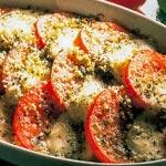 weiter zu - Mozzarella-Tomaten-Gratin