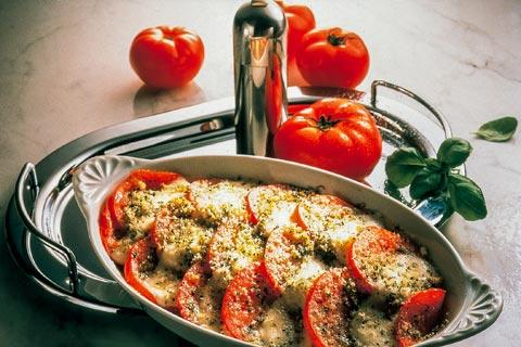 Mozzarella-Tomaten-Gratin