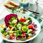 weiter zu - Diät-Salat-Rezept mit Mozzarella