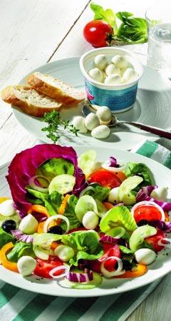 Diät-Salat-Rezept mit Mozzarella