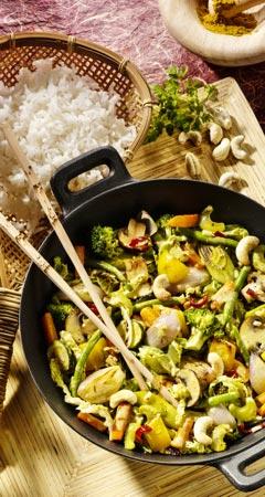Gemüsecurry mit Cashew-Nüssen