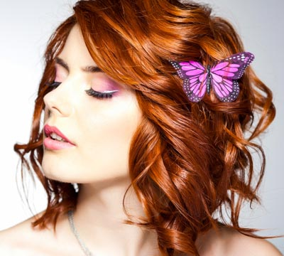 Haarclips mit Schmetterling