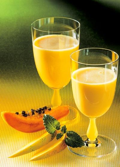 Mango-Papaya-Smoothie selber machen