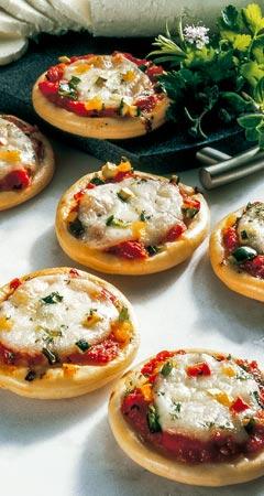 Pizza Rezept für vegetarische Party-Pizza