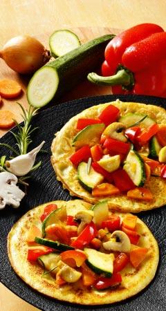 Gefüllte Pfannkuchen mit Gemüse - Rezept