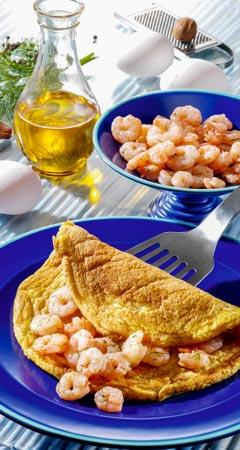 Frühstück - Gefülltes Krabben-Omelette