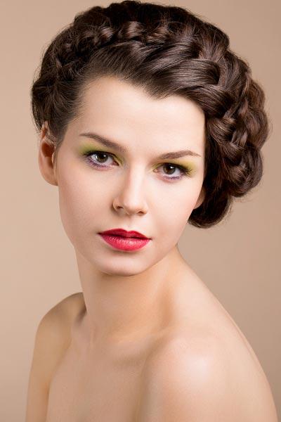 Haarkranz locker geflochten - Geflochtene Hochsteckfrisuren