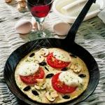 weiter zu - Pfannkuchen-Pizza mit Tomaten